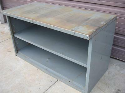 Steel Metal Work Bench Table Tool Shop Utility Shelf Workbench Cabinet 60x34x28