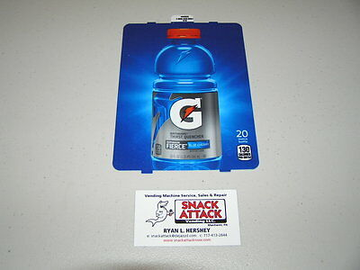 Dixie Narco 501e Soda Vending Machine Gatorade Fierce Blue Cherry Vend Label