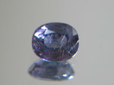 1.63CT GIA CERTED GREEN BLUE TO PURPLE PYROPE-SPESSARTINE COLOR CHANGE GARNET