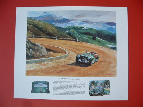 Triumph TR2 Ken Richardson 1954 Alpine Rally TR British sports car ltd ed print