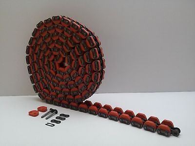 Ansi-50 Rubber Attachment Roller Chain Robotic Conveyor Belt 10 Foot Section