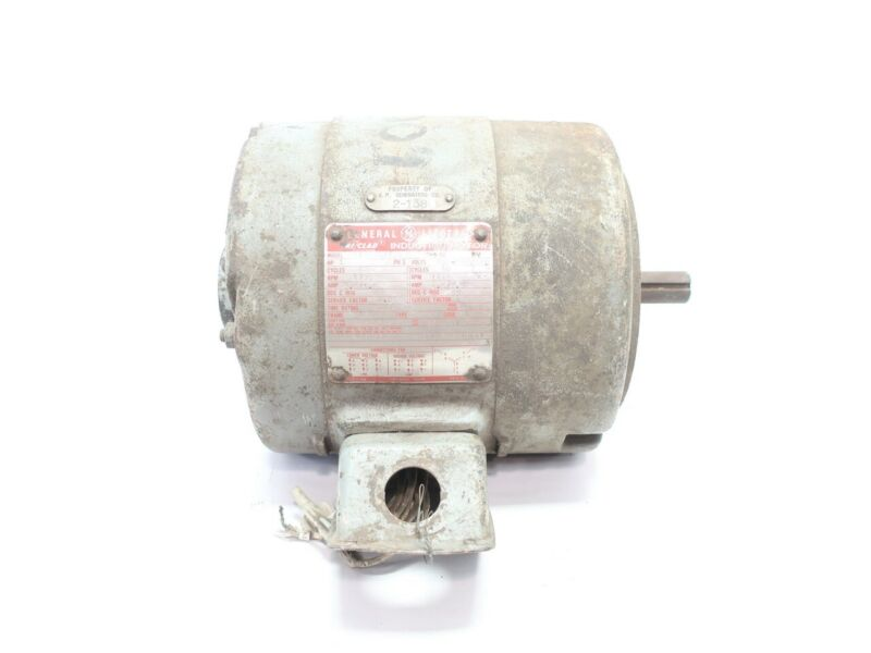 General Electric Ge 5K182DG3728 Ac Motor 182c 1hp 1440rpm 7/8in 208-220/440v-ac