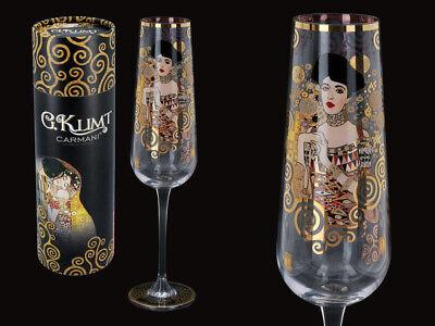 Gustav Klimt Glas Adele Bloch-Bauer Sektglas 200ml 26,5cm + Karton Glas 3725
