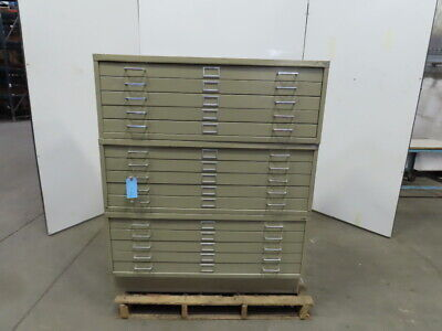 Safco Flat File Blueprint Plans Map Filing Cabinet 15 Drawer 46-14x35-12x56