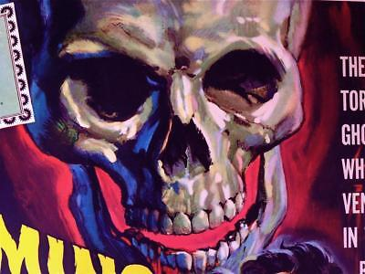 Vintage Original AIP Screaming Skull Monster Ghost Sci-Fi Horror 22X28 Poster NM