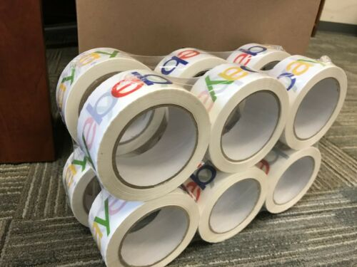 12 Pack eBay Branded Color Packaging Packing Tape 75 Yards 2.5 Mil Thick