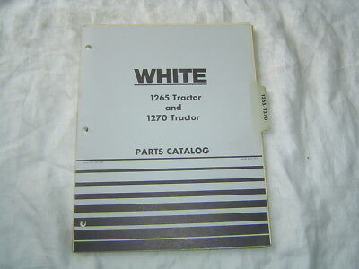 1974 White Cockshutt Oliver 1265 1270 Tractor Parts Catalog Book Manual