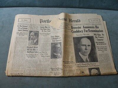 Rogers Hornsby St Louis Cardinals 1 4 1926 Newspaper Portland Press Herald