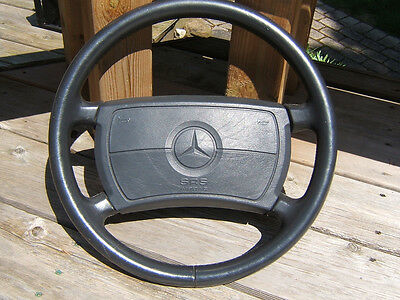 89/93 MERCEDES R129 W140 500SL 300SL LEATHER STEERING WHEEL WITH AIR BAG  for sale  Lewiston