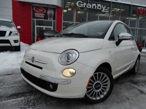 2012 Fiat 500 LOUNGE/MANUELLE/TOIT OUVRANT/CUIR/BLUETOOTH/MAGS