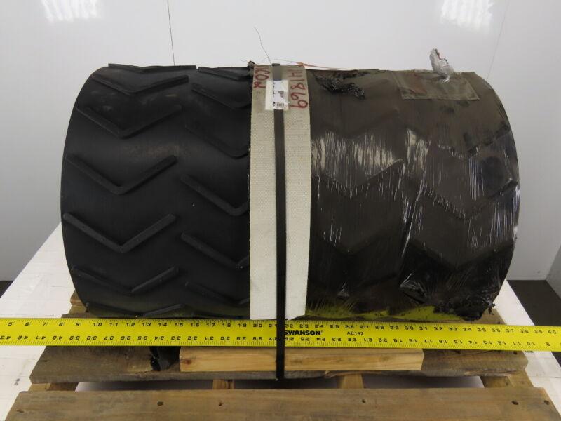 "2 Ply Molded Rubber Chevron Incline Conveyor Belt 24""W x 40"