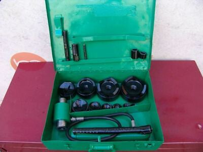 Greenlee Knock Out Hydraulic Punch And Die Set 7310 12 To 4 Inch Works Fine 2