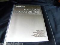 Yamaha Rx-v395 / Rx-v395rds Owner's Manual Operating Instruction - yamaha - ebay.it