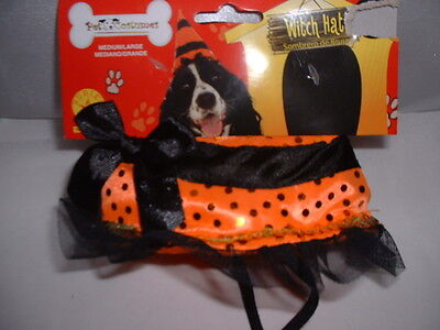 1 piece Dog Pet WITCH HAT For Halloween Costume Medium/Large M-L Medium Large](Medium Dog Costumes For Halloween)
