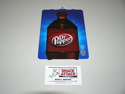 Dixie Narco 501e 276hv Soda Vending Machine Dr. Pepper 20oz Bottle Vend Label