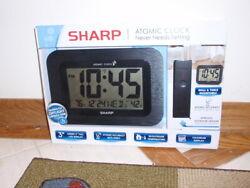 New Sharp Atomic Clock - Atomic Accuracy - Never Needs Setting - Jumbo 3 NIB