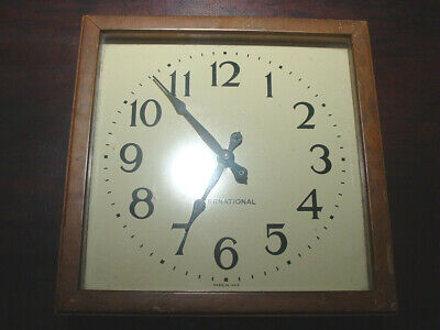 Vintage IBM International Business Machines Wall Clock School Academy University