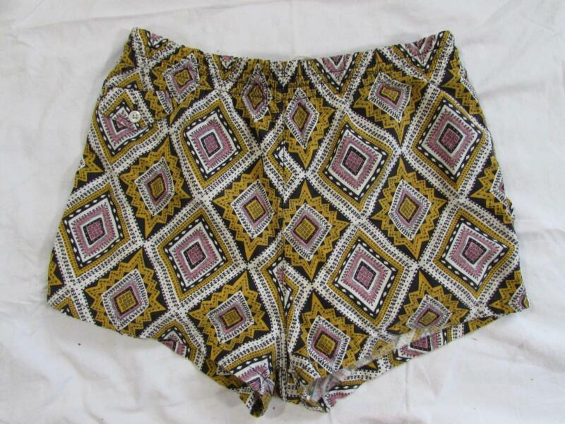 "Vtg 40s 50s Jantzen Abstract Tiki Swim Trunks Shorts 31""-36"" Swimsuit Hollywood"