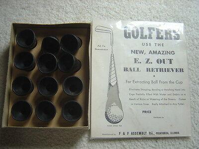 Vintage Unused EZ Out dozen golf ball retriever with display board