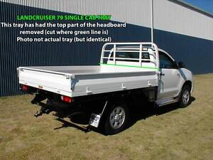 STEEL TRAY LANDCRUISER 79 S/CAB + 2x MINECORP SPARE WHEEL MOUNTS Kalamunda Kalamunda Area Preview