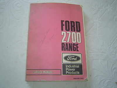 Ford 2700 Range Engine Industrial Power Products Engine Shop Service Manual