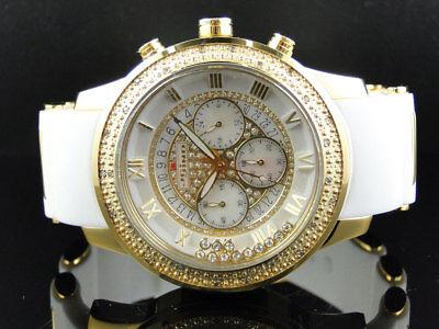 Mens 47 Mm Jojino Joe Rodeo Aqua Master Chrono Metal Band Diamond Watch Mj 1185