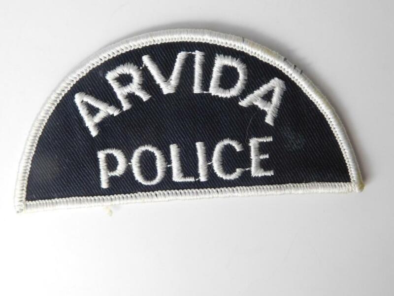 ARVIDA QUEBEC POLICE  OFFICER VINTAGE UNIFORM PATCH CREST BADGE CANADA