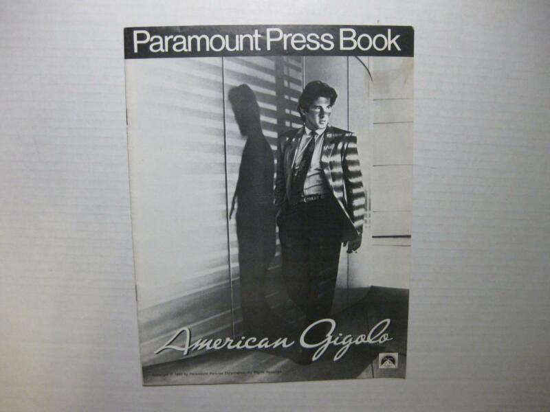 American Gigolo Paramount Press Book 1980 Richard Gere Lauren Hutton