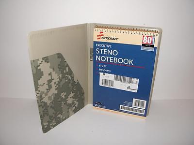 - CAMO Print VINYL Padded Steno NOTEBOOK Binder w/ Refill  9-1/2