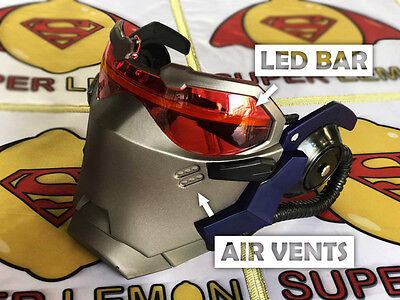 Overwatch 15 Air Vents Soldier 76 LED Bar mask game cosplay Halloween gift - Halloween Bar Games