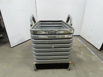 36x25x25 Deep Steel Industrial Scrap Storage Container Hopper Basket Tote