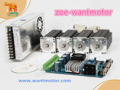 Usa Is Freewantai 4axis Kit Nema23 Stepper Motor 3a 270oz-in4axis Driver Board