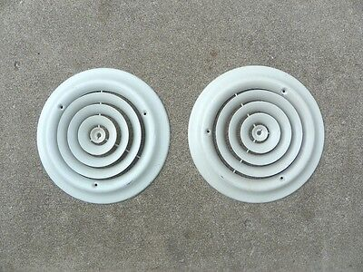 "2 - 12"", Vintage Ceiling/Wall Diffuser Grate Vent Air Return Register, Metal"