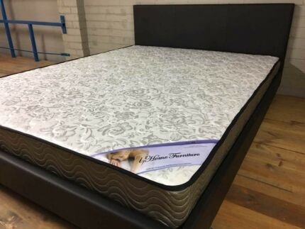【Brand New】PU leather bed frame and spring mattress from $100