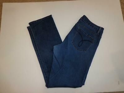 Womens CALVIN KLEIN Straight Leg Size 31 /12 Blue (Calvin Straight Leg Jeans)