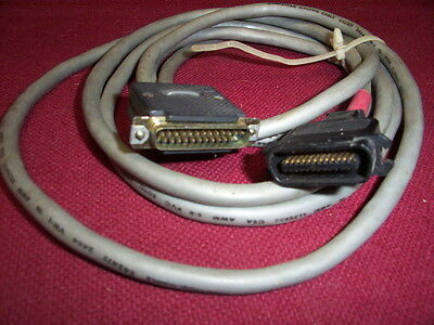 Hpib Male To Db25 Male Interface Cable 10 Ft Long  24 Pin Hewlett Packard