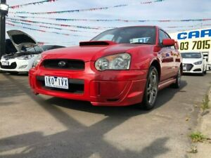 2005 Subaru Impreza S MY05 WRX AWD Red 5 Speed Manual Sedan Maidstone Maribyrnong Area Preview