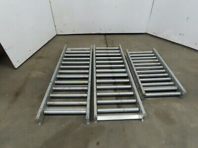18 Gravity Roller Conveyor 16 Bf X 40mm Dia. Roller Lot Of 3