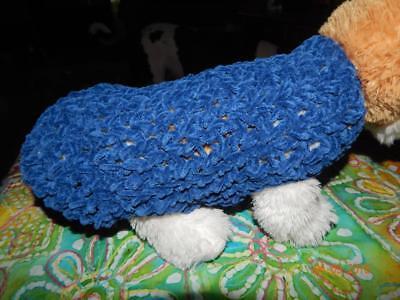 XXS Dog Apparel Sapphire Lion Suede Plush Puppy Sweater