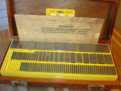 Doall 81 Pc Grade A Machinist Tool Inspection Gage Block Set .050- 4 Usa Made