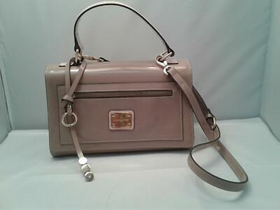 A. Bellucci Taupe Leather Handbag Purse with Crossbody Strap os