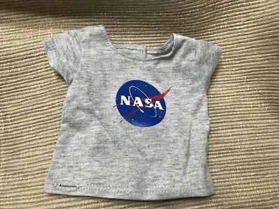 American Girl Goty Luciana Gray Space Nasa T Shirt Top For 18  Dolls New