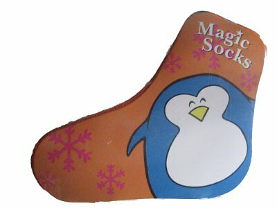 Shrink Wrapped Fun Animals Penguin Patterned Magic Tube Socks - Just Add Water! ()