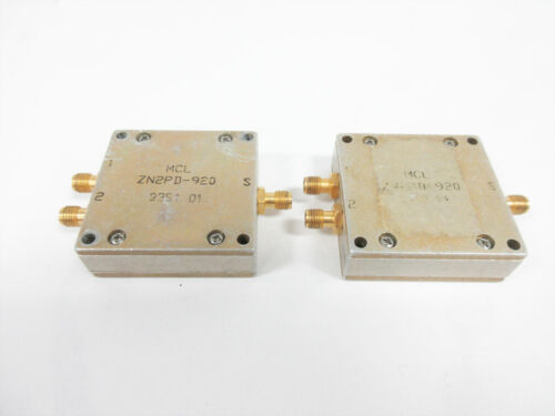 2X MCL ZN2PD-920 POWER SPLITTER-COMBINER SMA 920 MHZ ZN2PD-920-S+ ~MINI-CIRCUITS