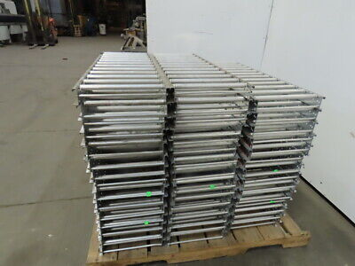 Selectrak Carton Flow Gravity Roller Conveyor 12-12 X 35-34 Lot Of 44
