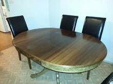 Hardwood handcarved dining table Georges Hall Bankstown Area Preview