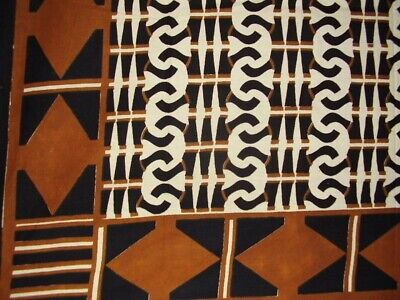 """African Print Tapestry Cotton Spread 106"""" x 70"""" Twin Brown"""