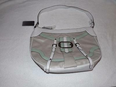 GUESS ADELINA  SHOULDER BAG WITH BELTED &  SILVER LIKE TONE & BEADED ACCENTS!