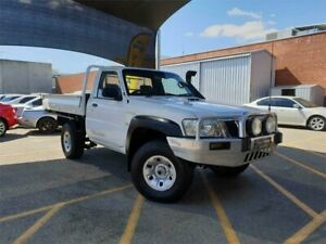 2008 Nissan Patrol GU MY08 DX (4x4) White 5 Speed Manual Leaf Cab Chassis Osborne Park Stirling Area Preview