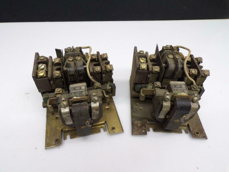 Lot of 2 Used Sylvania 5UH4 7305 Latch Relay Type PML E527